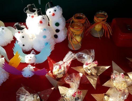 Stand auf dem Meitinger Weihnachtsmarkt